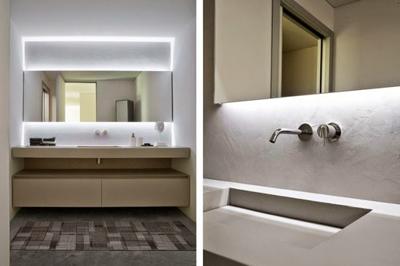 Profilo led angolare flusso 45 led piemonte for Specchio bagno profilo alluminio