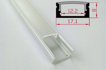 Reduced height aluminum profile for led strip